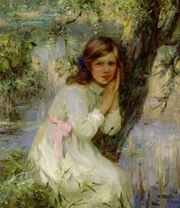 William Stewart Macgeorge - Echo, Girl Resting By A Tree