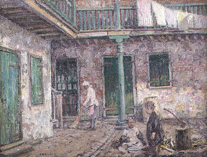 Wilson Henry Irvine - French Quarter Courtyard