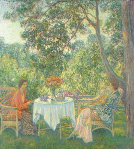 Wilson Henry Irvine - Teatime (lois And Betty-june)