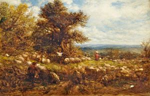 John Linnell - Sheep Changing Pastures