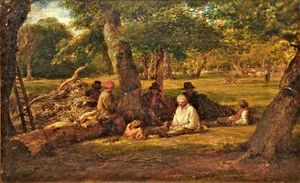 John Linnell - Woodcutters' Repast