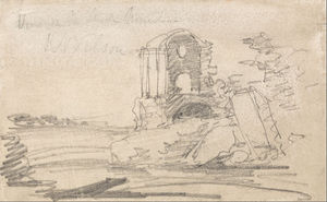 John Sell Cotman - Ruined Temple After Richard Wilson