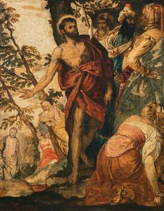 William Etty - Saint John The Baptist Preaching