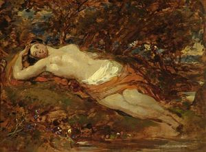 William Etty - Study For 'reclining Nude'