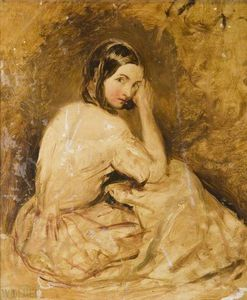Alfred Joseph Woolmer - Portrait Of A Young Woman