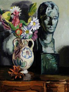 Duncan Grant - Still Life With A Bust Of Vanessa Bell