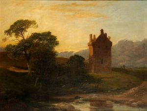 George Harvey - Invermark Castle, Forfarshire