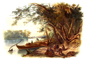 Karl Bodmer - Encampment Of The Travellers On The Missouri