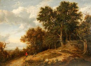 Patrick Nasmyth - Wooded Landscape With Distant View