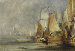 William Simpson - Port Scene