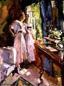 Konstantin Alekseyevich Korovin - At The Open Window