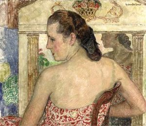 Leon De Smet - Claire In A Summer Dress In Front Of The Mirror