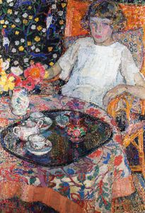 Leon De Smet - Little Girl At The Table