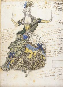Leon Bakst - Costume Design For 'la Fée De Richesse'