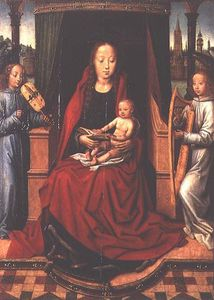 Master Of The Saint Lucy Legend - Madonna And Child With Two Musical Angels