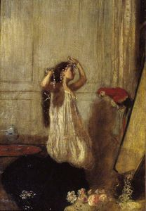 Henry Tonks - A Girl With A Parrot
