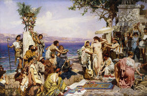 Henryk Hector Siemiradzki - Phryne At The Festival Of Poseidon, God Of The Seas