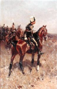 Hermanus Koekkoek (The Elder) - A Sergeant Of The 19th Hussars On Horseback