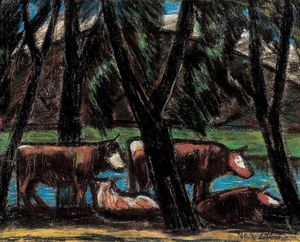 Istvan Nagy - Cows Between Trees