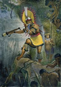 Jean Baptiste Debret - A Coroado Indian Giving The Signal For Attack