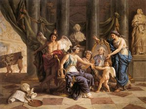 Louis Jean François Lagrenée - Allegory On The Installation Of The Museum In The Grande Galerie Of The Louvre