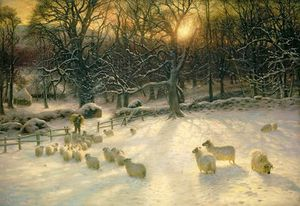 Joseph Farquharson - The Shortening Winter's Day Is Near A Close