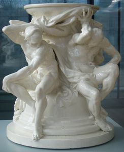 Albert Ernest Carrier Belleuse - Titans, Support For A Vase