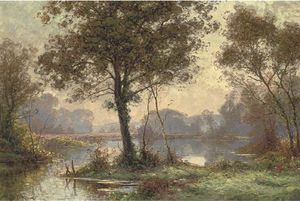 Albert Gabriel Rigolot - At The Lake In The Forest