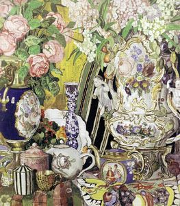 Aleksandr Jakovlevic Golovin - Porcelain And Flowers