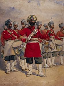 Alfred Crowdy Lovett - Soldiers Of The 45th Rattray's Sikhs 'the Drums' Jat