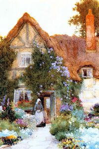 Arthur Claude Strachan - Outside The Cottage