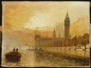 Claude Thomas Stanfield Moore - View Of Westminster From The Thames