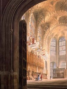 Edward Dayes - The Henry Vii Chapel, Westminster