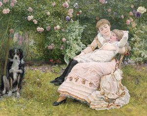 Edward Killingworth Johnson - A Rest In The Garden