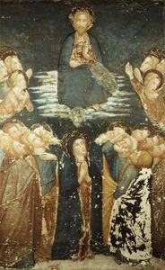 Ferrer Bassa - The Ascension Of Christ Surrounded By Apostles And The Virgin Mary