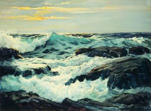 Frederick Judd Waugh - Surf And Headlands
