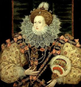 George Gower - Portrait Of Queen Elizabeth I The Armada Portrait