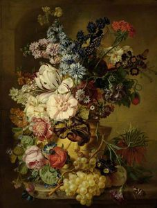 Georgius Jacobus Johannes Van Os - A Vase Of Flowers