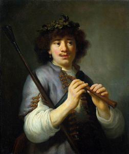 Govert Teunisz Flinck - Rembrandt As Shepherd With Staff And Flute
