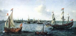 Hendrick Cornelisz Vroom - The Harbour In Amsterdam