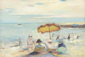 Henri Ottmann - Beach With Characters