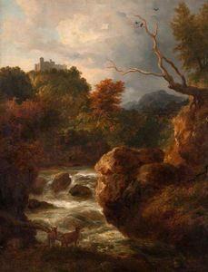 Ramsay Richard Reinagle - Mountain Stream With Deer