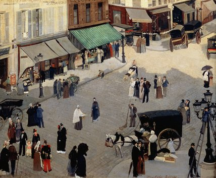 famous painting La Place Pigalle, Paris of Albert Ernest Carrier Belleuse