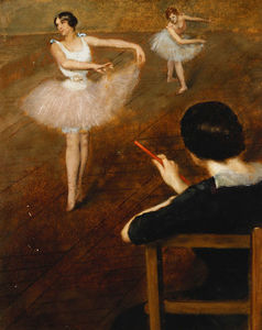 Albert Ernest Carrier Belleuse - The Ballet Lesson