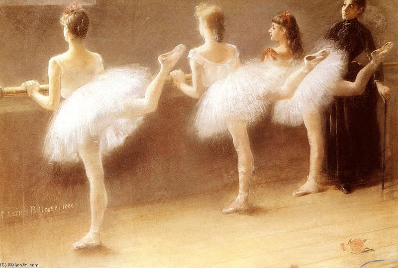 famous painting At The Barre of Albert Ernest Carrier Belleuse