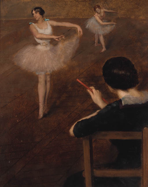 famous painting The Ballet Class of Albert Ernest Carrier Belleuse