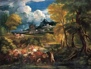 Pieter The Younger Holsteyn - Bucolic Landscape