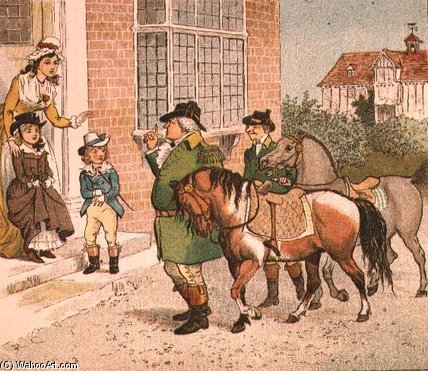 famous painting Illustration From Ride-a-cock-horse To Banbury Cross of Randolph Caldecott