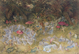 Richard Dickie Doyle - Fairy Rings And Toadstools