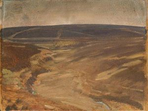 Alfred James Munnings - An Exmoor View -